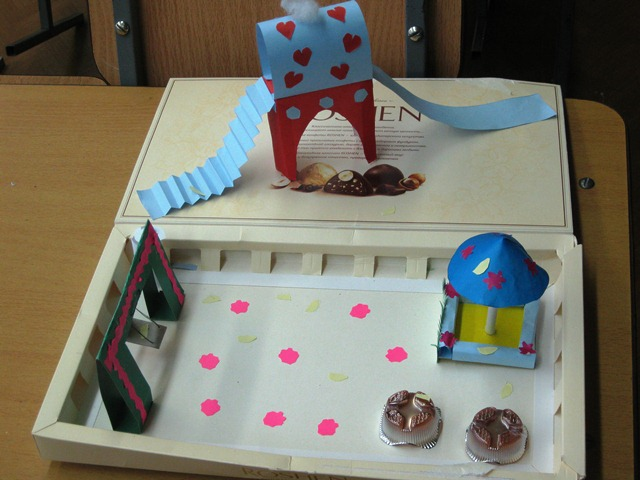 Технология 3 класс как сделать песочницу из бумаги